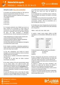 Módulo 1 - aula 11 12 13 14 15 - Ácidos Nucleicos