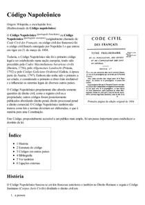 Código Napoleônico – Wikipédia  a enciclopédia livre