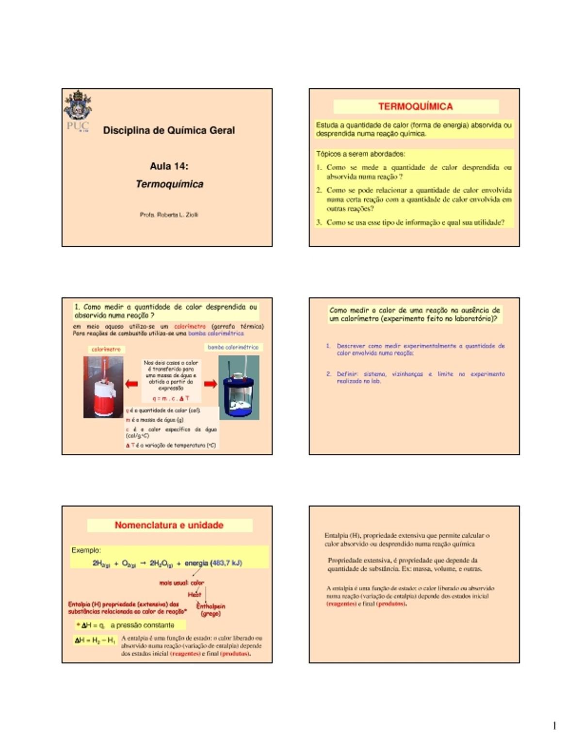 Pre-visualização do material aula_14_-_Termoquimica - página 1