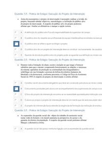Apol 4 Prática de Estágio Execução do Projeto de Intervenção NOTA CEM