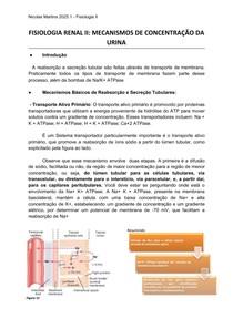 Fisiologia Renal - Mecanismos de Concentração da Urina