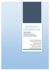 SEMIOLOGIA E ESTOMATOLOGIA-TRATAMENTO ODONTOLÓGICO EM PACIENTES HIPERTENSOS