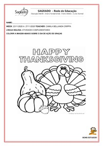 COLORINDO THANKSGIVING DAY