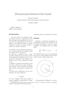 [Demonstração] Informações magnéticas de um cabo coaxial