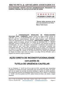 AÇÃO DIRETA DE INCONSTITUCIONALIDADE POLICIA CIVIL