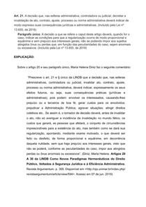 Art 21 da LINDB - Comentários