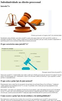 Substitutividade no Direito Processual