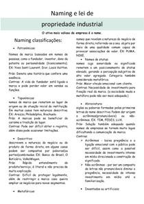 Naming e lei de propriedade industrial