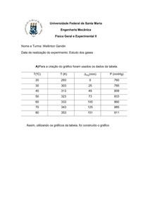 Estudo dos gases - Relatório - Física II