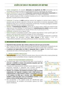 MECANISMOS DE REPAROS DO DNA