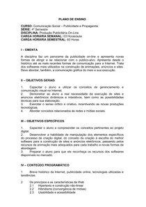 4º SEM - Produção Publicitária On-Line MATUTINO