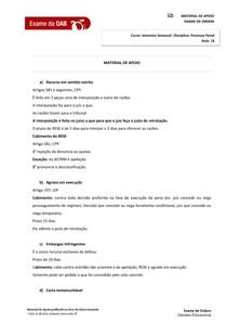 Resumo  Direito Processual Penal   Aula 16   Teoria Geral dos Recursos