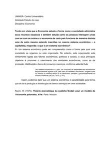 ESTUDO DE CASO- ECONOMIA- UNINGÁ