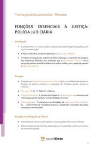 O papel da polícia Judiciária - Resumo