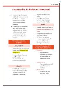 Ferramentas de avaliação - Nutrição em Estética @nutricomgab