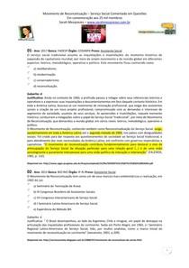 Movimento de Reconceituação   Serviço Social Comentado em Questões   SScq