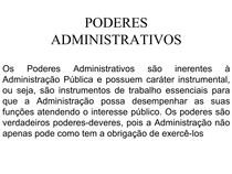 Síntese de Poderes Administrativos