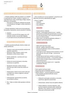 Histologia do sistema respiratório - Junqueira cap 17