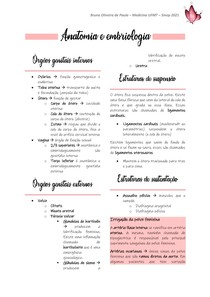 Anatomia e embriologia