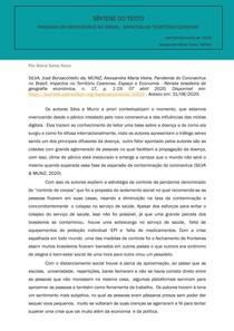 Síntese do texto - PANDEMIA DO CORONAVÍRUS NO BRASIL_IMPACTOS NO TERRITÓRIO CEARENSE