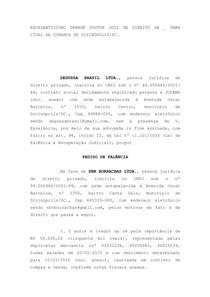 Petição Inicial Execução Frustrada Falência E Recuperação