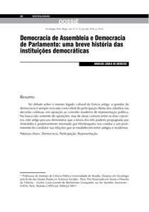 Democracia de assembleia e democracia de parlamento (2)