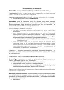 METAPLASIA ÓSSEA DO ENDOMÉTRIO RESUMO