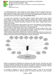 Projeto de Redes com Simulador