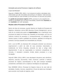 Anotações para prova Processos e negócios de software
