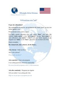 O que são collocations - Collocations com ask - #exclusivopasseidireto