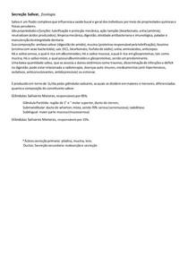 Secreção Salivar; FISIOLOGIA