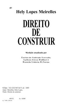 Direito De Construir Hely Lopes Meirelles Pdf