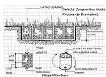 pavimento permeável sustentável - Reuso de latinhas
