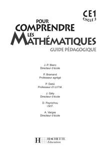 Hachette - Guide péda Livre Pour Comprendre Les Mathématiques CE1 - Zecol