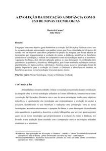 Paper Pós-graduação em Educação a Distância