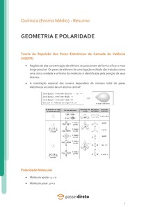 Geometria e polaridade - Resumo