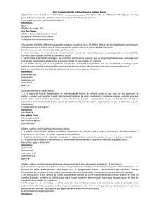 Exercícios Fundamentos das Políticas Sociais e Políticas Sociais - AV1