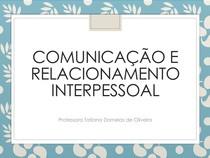 Comunicação e relacionamento interpessoal - Unidade I