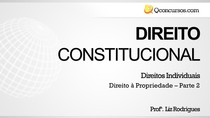 Direito de propriedade - Apresentação (parte 2)