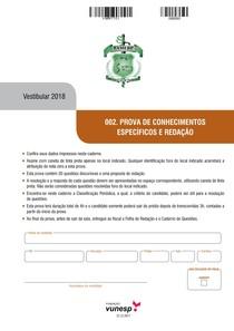 PROVA FAMERP 2018 - Faculdade de Medicina de São José do Rio Preto