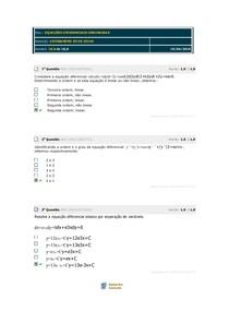 AVALIAÇÃO PARCIAL Equações diferenciais ordinárias