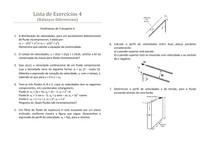 Fenômenos de Transporte - Lista de exercícios 4 resolvida