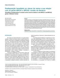 Artigo Predisposição hereditária ao câncer de mama e sua relação com os genes BRCA1 e BRCA2