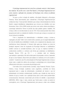 TRABALHO PSICOLOGIA ORGANIZACIONAL