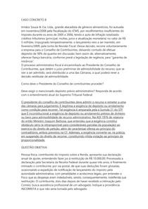 DIREITO TRIBUTÁRIO II - CASO CONCRETO 8