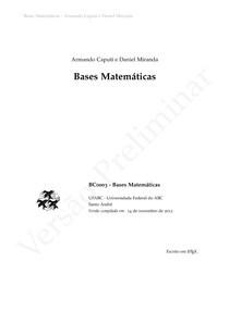 Bases Matemáticas - Livro