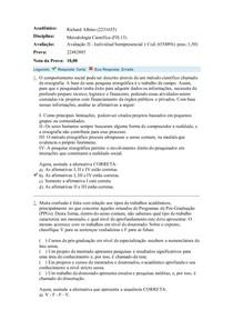 avaliação II Metodologia Científica (FIL13)