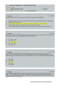 AV Contabilidade de Custos - By SM
