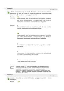EXERCICIOS ANTROPOLOGIA CULTURA BRASILEIRA