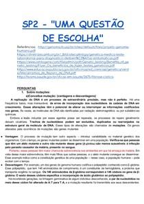 SP2 - _UMA QUESTÃO DE ESCOLHA_